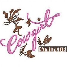 Cowgirl Attitude White Short Sleeve T-Shirt Any Size ~Cute~