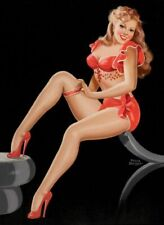 Vintage Pin-Up in Red Peter Driben PINUP517 Art Print A4 A3 A2 A1