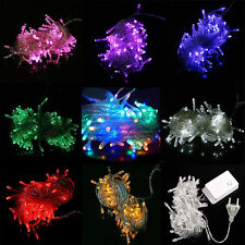 110V 10M 100 LED String Fairy Lights Christmas Wedding Party Xmas US Shipping