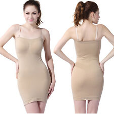 Firm Control Sexy Seamless Body Shaper Full Slip Stretch Slimming Tube Dress