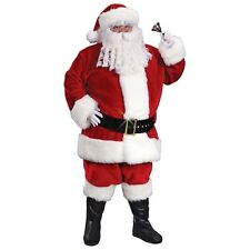 Santa Suit Adult Mens Deluxe Crimson Christmas Costume Fancy Dress