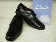 Clarks Hardies Dream Black Leather Formal Lace Up Shoes