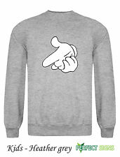 DRAKE MICKEY MOUSE HANDS YMCMB YOLO Obey Yolo  Sweatshirt  Kids S - XL  - Grey