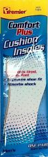 Premier Comfort Plus Cushion Insoles Shoe Sneaker Quality Inserts ALL SIZES