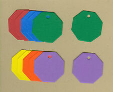 Your choice of colors on Mini Octagon Gift Tags #2 Die Cuts - AccuCut