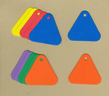 Your choice of colors on Mini Triangle Gift Tags #2 Die Cuts - AccuCut