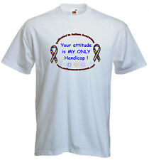 26a. Autism Kids T-shirts- Your attitude is my only handicap