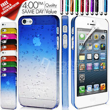 ULTRA THIN CRYSTAL CLEAR BACK CASE COVER FITS APPLE IPHONE 5 FREE SCREEN GUARD