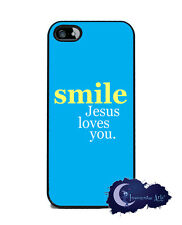 Smile, Jesus Loves You - iPhone 5 Slim Case, Cell Cover - Christian Faith