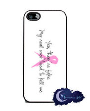 Yes They're Fake. My Real Ones Tried To Kill Me - iPhone 5 Case, Pink Ribbon