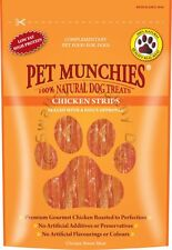 Pet Munchies Natural Dog Treats 100g Healthy 100% Meat Jerky Low Fat Box of 8