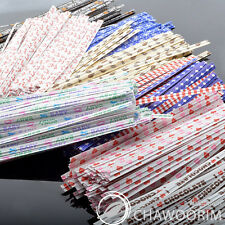 """4"""" Paper Twist Ties for Plastic Bag, Candles, Candy, Gift, Favors, YOUR CHOICE!"""