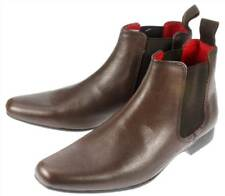Boys Garforth Leather Pointed Toe Chelsea Boots UK 1-6