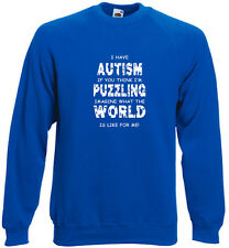 73a. Autism Sweatshirt,Hoodie, Me puzzling?Imagine what the world is like for me