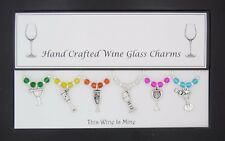 HANDMADE WINE GLASS CHARMS WEDDING GIFT BIRTHDAY PRESENT HEN PARTY NIGHT OUT