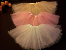 Flower Girl Flowergirl Wedding Petticoat Tutu Party Dress Up Skirt  Age 1-5 Year