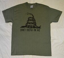 Don't Tread on Me Heather Military Green T Shirt All Sizes S - 3XL Tea Party