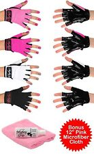 Mighty Grip Powder + Pink  Cloth + Pole Dance Fitness Gloves Tacky (3 items)