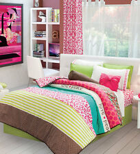 Twin Full and Queen Girls and Teens Chic Comforter Set with Matching Curtains
