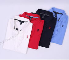 Tommy Hilfiger Women Solid Soft Cotton Buttonless Polo Shirt - Free $0 shipping