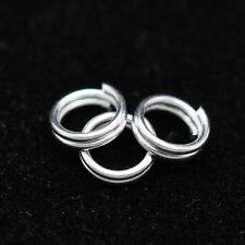 100 200 400 x 5mm Silver Plated Split Rings Jumpring Jewellery Making Craft UK