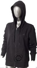 Adidas Performance Women's Full Zip Ess Hooded Jacket Top New Black Sweat P43759