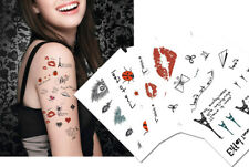 Romantic Temporary Tattoos, Paris, Lip prints, Diamond Tattoos, Valentine Tattoo