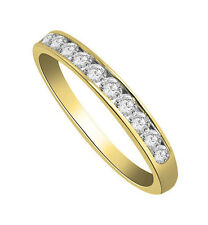 Engagement Wedding Ring Band 0.40 Ctw Round Cut Diamond Jewelry 14Kt Yellow Gold