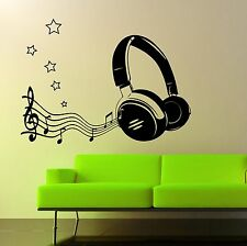 Headphone & Music Notes Wall Art Sticker, Decal, Graphic,Transfer sg72