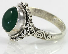 Green Onyx Filigree Ring on Genuine 925 Sterling Silver Jewelry New Handcrafted