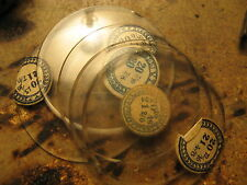 Glass Crystal for Pocket Watch Cases  NOS 20 and 22 Ligne