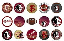 Pre-Cut One-Inch Florida State University Bottle Cap Images
