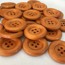 20/100pcs Brown Round Wood Coat Buttons Lot 35mm 2 Holes Craft/kids Sewing Cards
