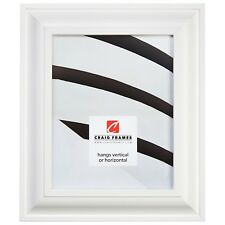 """Craig Frames Contemporary Upscale, 2"""" White Satin Mica Picture Frame"""
