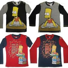 Boys Bart Simpson Long Sleeve Cotton Top Ages 2-8 Years