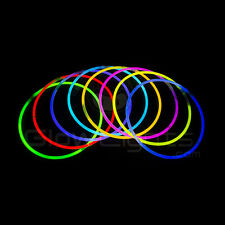 "(50) 22"" GLOW LIGHT STICKS NECKLACES - 9 COLORS - GLO LITE PARTY - PREMIUM"