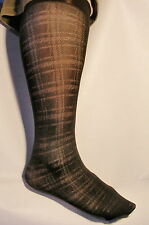 Lots of 6/10/24 PAIRS-Woman Knee High Trouser Socks-Textured-Size M 9-11 Brown