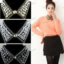 Fashion Jewelry Black Collar Black Crystal Charm Elegant Necklace Gorgeous Chain