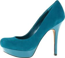 Womens Shoes Jessica Simpson GIVEN Classic Platform Pumps Suede Emerald Teal
