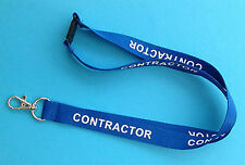 Navy Blue Contractor Security Neck Lanyard PLUS Safety Clip
