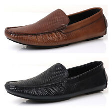 US5-10 Leather Casual business SLIP-ON loafer fashion mens boat shoes  [JG]