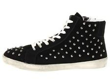 Womens Shoes Steve Madden TWYNKLE High Top Studs Fashion Sneakers Laces Black