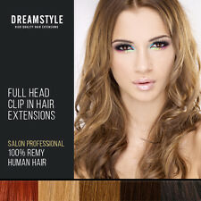"20"" Inch Full Head Clip In Hair Extensions 100% Remy Human hair"