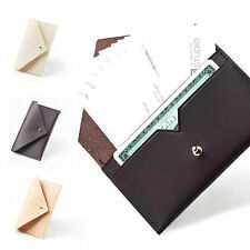 Hand Made Modern ID Business Credit Card Holder Case Purse Genuine Leather-ECO5
