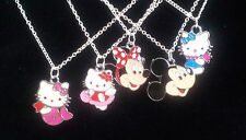 CHILD GIRL/BOY PENDANT, NECKLACE + GIFT BOX - HELLO KITTY, MICKEY MINNIE MOUSE