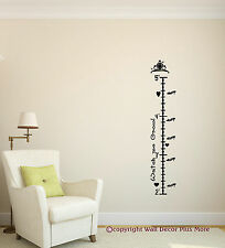 Princess Crown Growth Chart Wall Vinyl Sticker Personalized Girls Room 2 '-5'