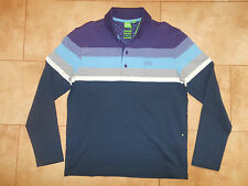 Hugo Boss Casual Sweatshirt Golf Polo Navy Blue Jersey S M L XL XXL PLISY