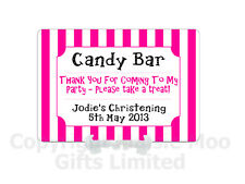 Personalised Metal Birthday Christening Party Candy Cart Sweet Buffet Table Sign