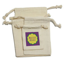 Mardi Gras - Celebration New Orleans Muslin Cotton Gift Party Favor Bags