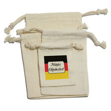 Happy Oktoberfest - Germany Flag October Muslin Cotton Gift Party Favor Bags